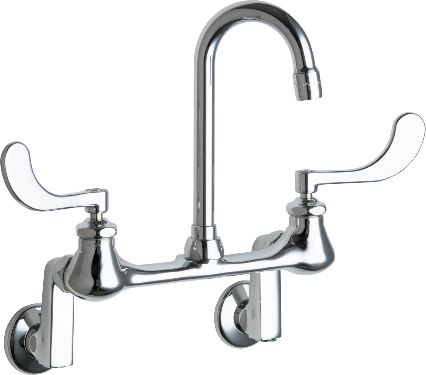 Wall Mounted Manual Sink Faucet With Adjustable Centers