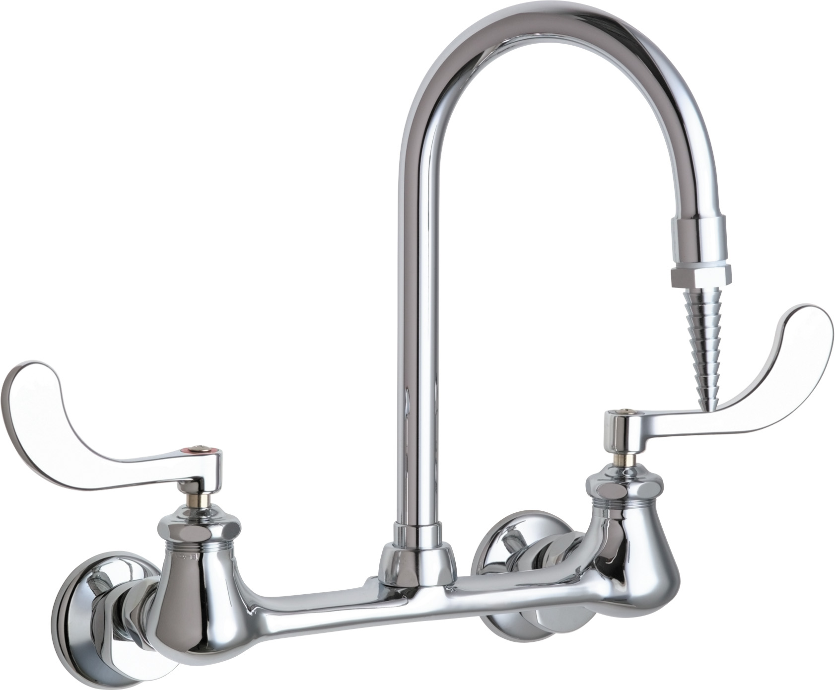 Wall-mounted manual laboratory faucet with 8