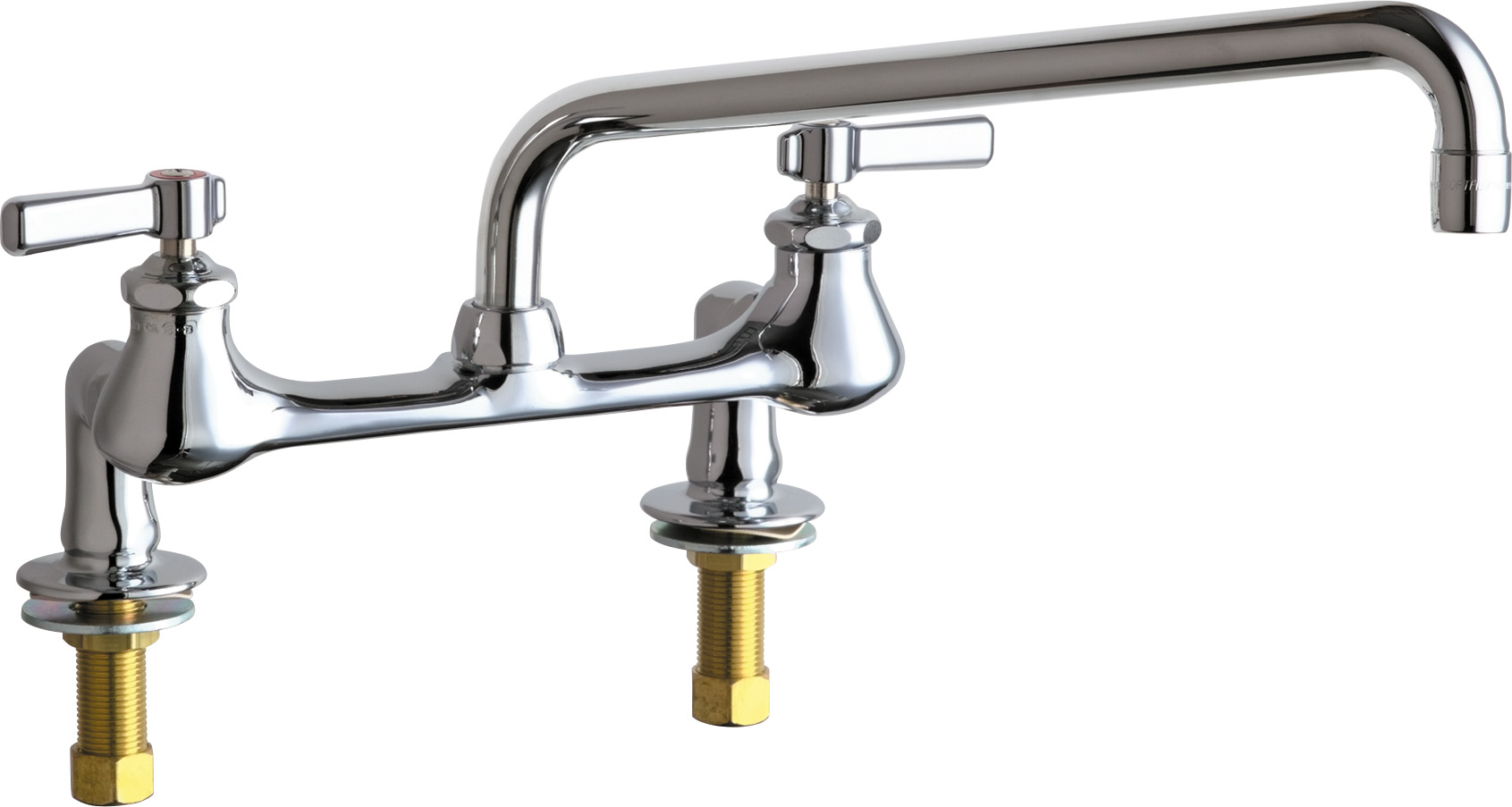 Deck-mounted manual laboratory faucet with 8