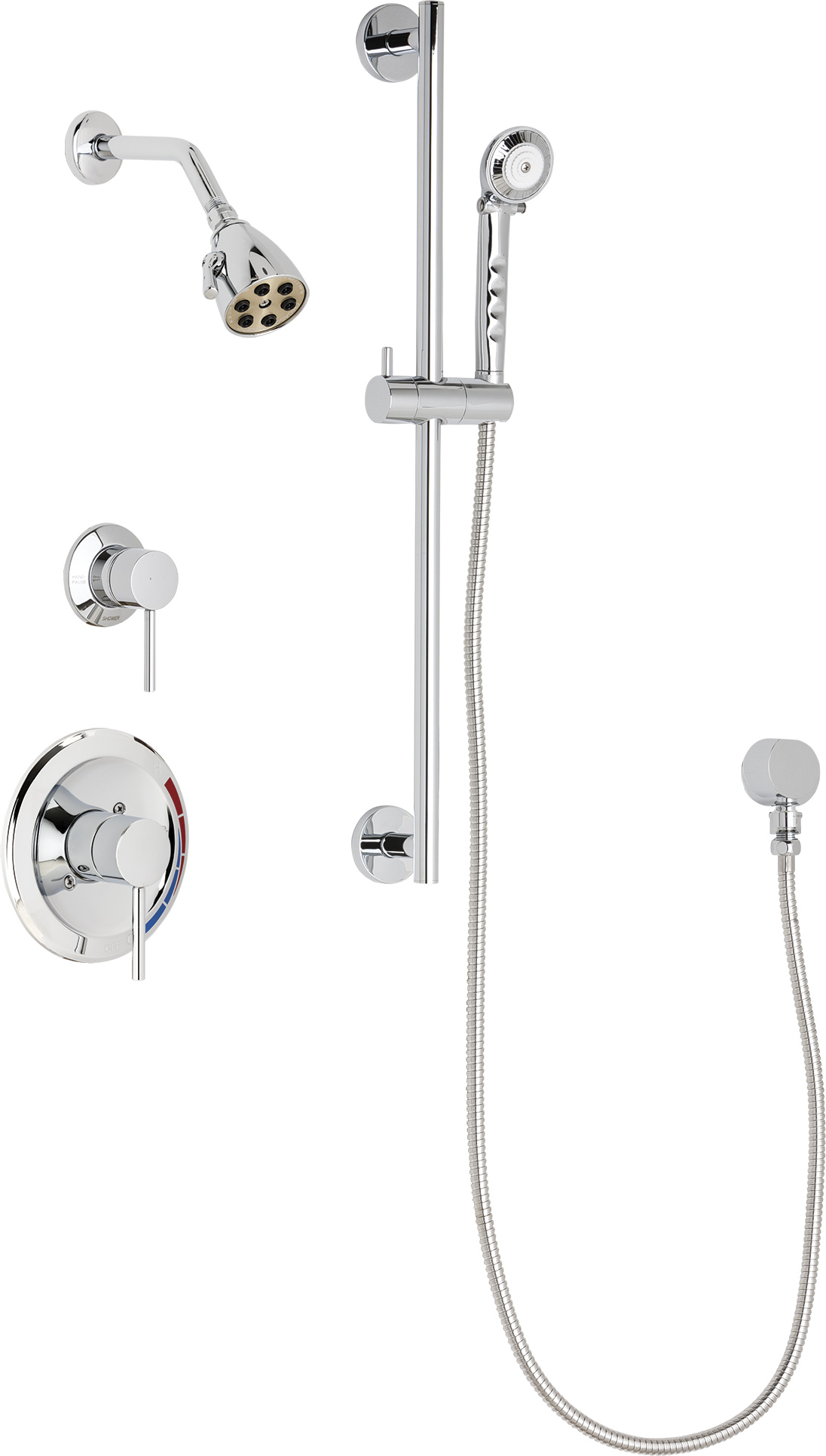 Pressure Balancing Tub And Shower System With Shower Head Hand Spray And Diverter Tub Spout Options