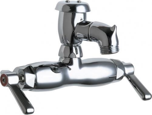 wall mounted manual sink faucet with 3 3 8 centers