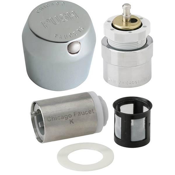 chicago faucets 665 rkpabcp 1 3 4 mvp metering push handle