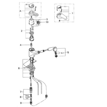 grohe europlus 33 853 pull out spray