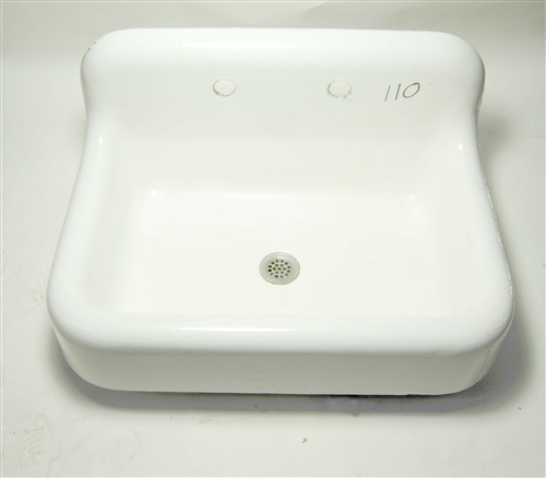 kohler vintage cast iron farm sink for wall mounted faucets 110