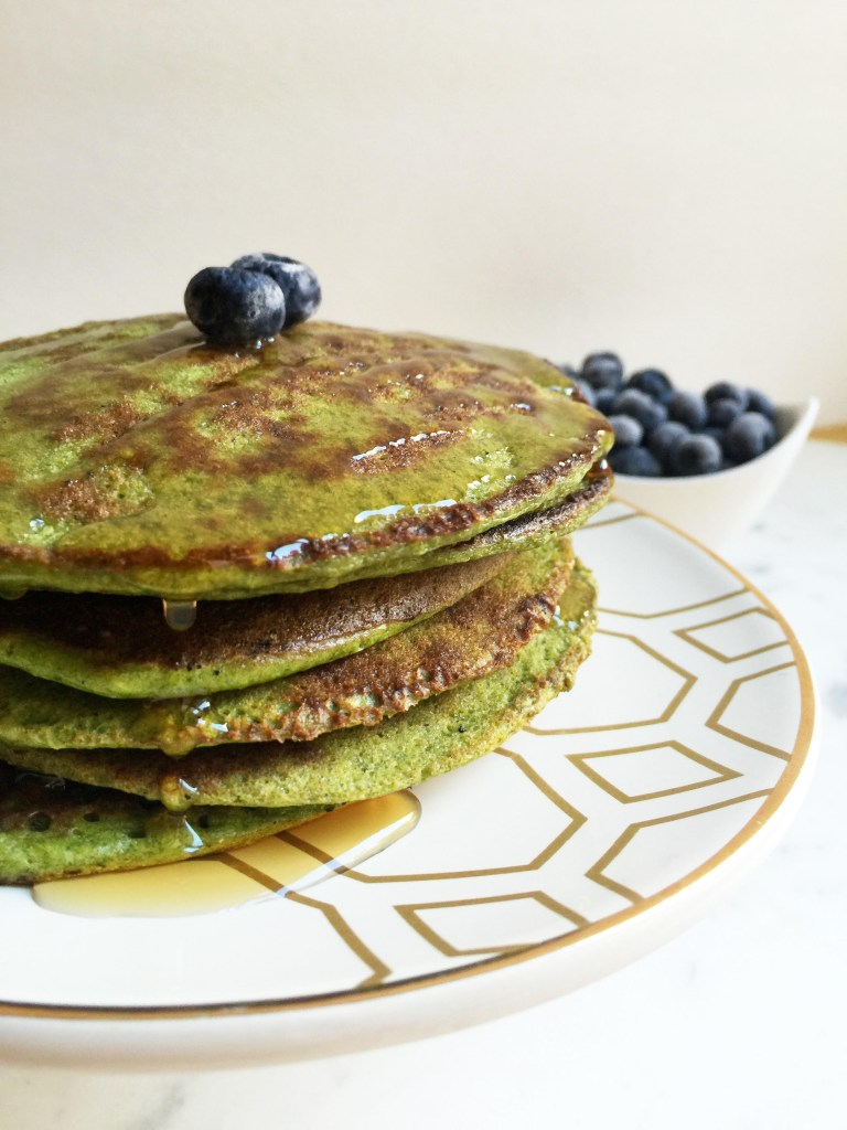 Matcha Green Tea Pancakes Recipe (Gluten-Free and High-Protein)