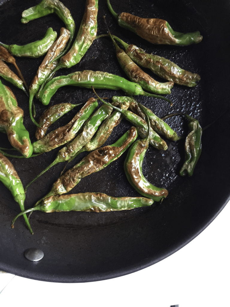 Recipe: Shishito Peppers with Peapod + GIVEAWAY