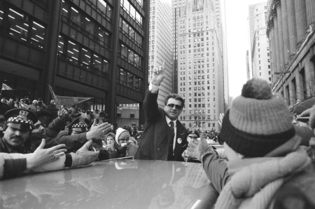 Mike Ditka were hailed as heroes at the Super Bowl victory parade on January 27, 1986