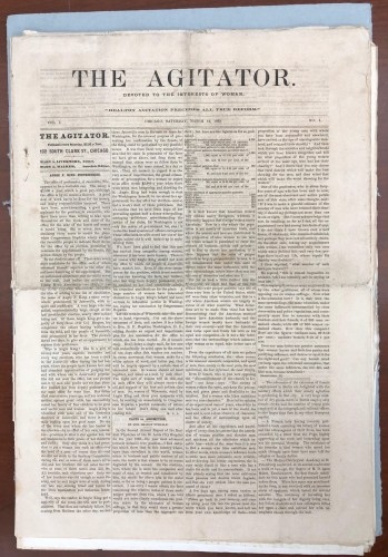 The Agitator newspaper front page