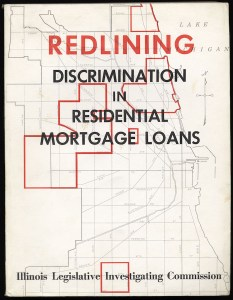 """The cover of """"Redlining: Discrimination in Residential Mortgage Loans,"""" a report by the Illinois Legislative Investigating Commission, 1975. CHM, ICHi-037471"""