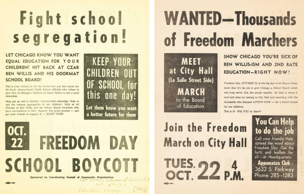 two-sided freedom day flyer