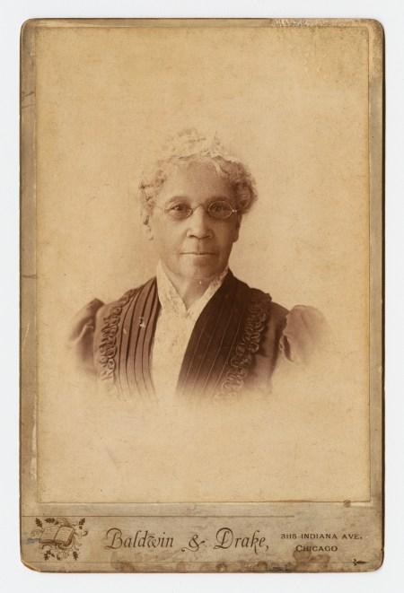 Portrait of Mary Richardson Jones (1820-1910), taken sometime after 1883.