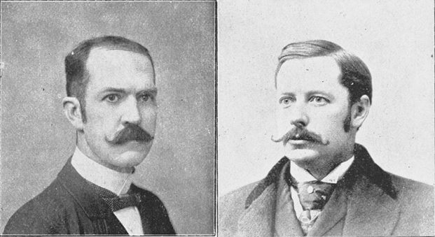 Black and white head shots of Isaac Reed and Howard Gross