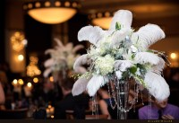 Feathers Centerpieces, New Years Wedding Centerpieces ...