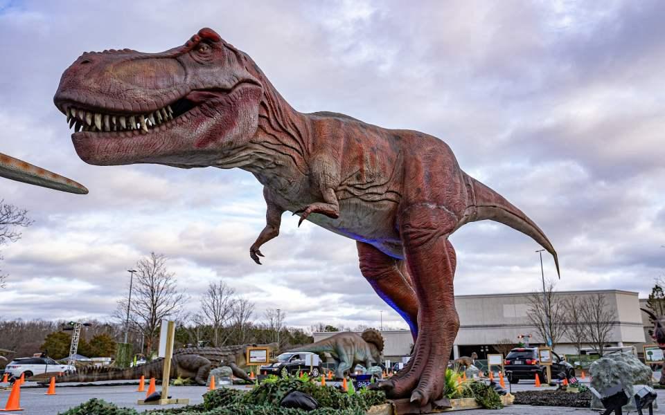 تجوّل بسيارتك بين الديناصورات في مركز «فوكس فالي»