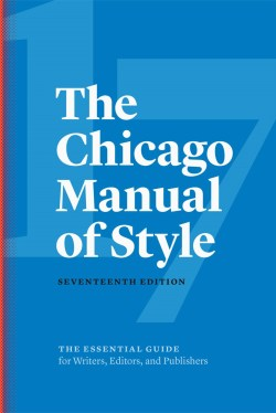 Chicago Manual of Style, 2017 - 17th edn.