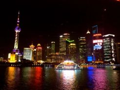From the boat looking at the East side of the HuangPu River, Pudong.