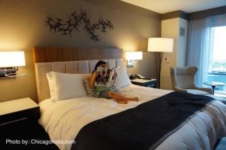 Loews Chicago Hotel's comfy bed