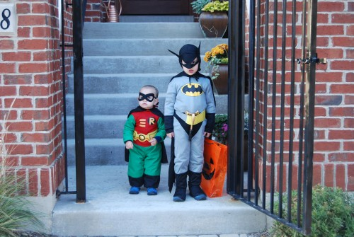 Batman & Robin, Halloween 2007.  Less than one month before diagnosis, I felt like we had everything we could want.