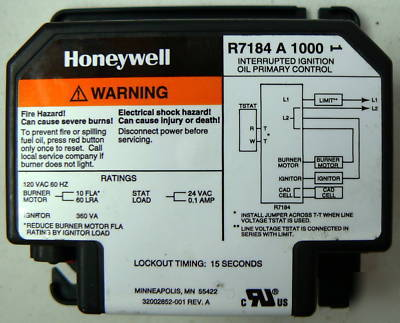 New Honeywell R A Ignition Primary Control