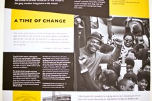 """Photos from the exhibit titled """"Report to the Public: An Untold History of the Conservative Vice Lords"""" are displayed at the Art In These Times in Logan Square. The exhibit runs through Dec. 31."""