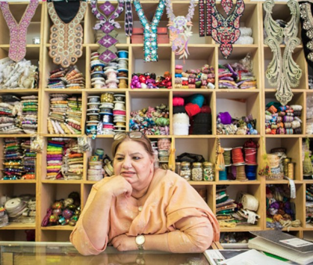 Salma Mukhi 55 Opened Her First Fabric Store On Devon Avenue In 1996 In The Years Since She Has Moved Into A Larger Storefront And Her Children Have