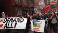 May Showers Did Not Deter Anti-Deportation Marchers