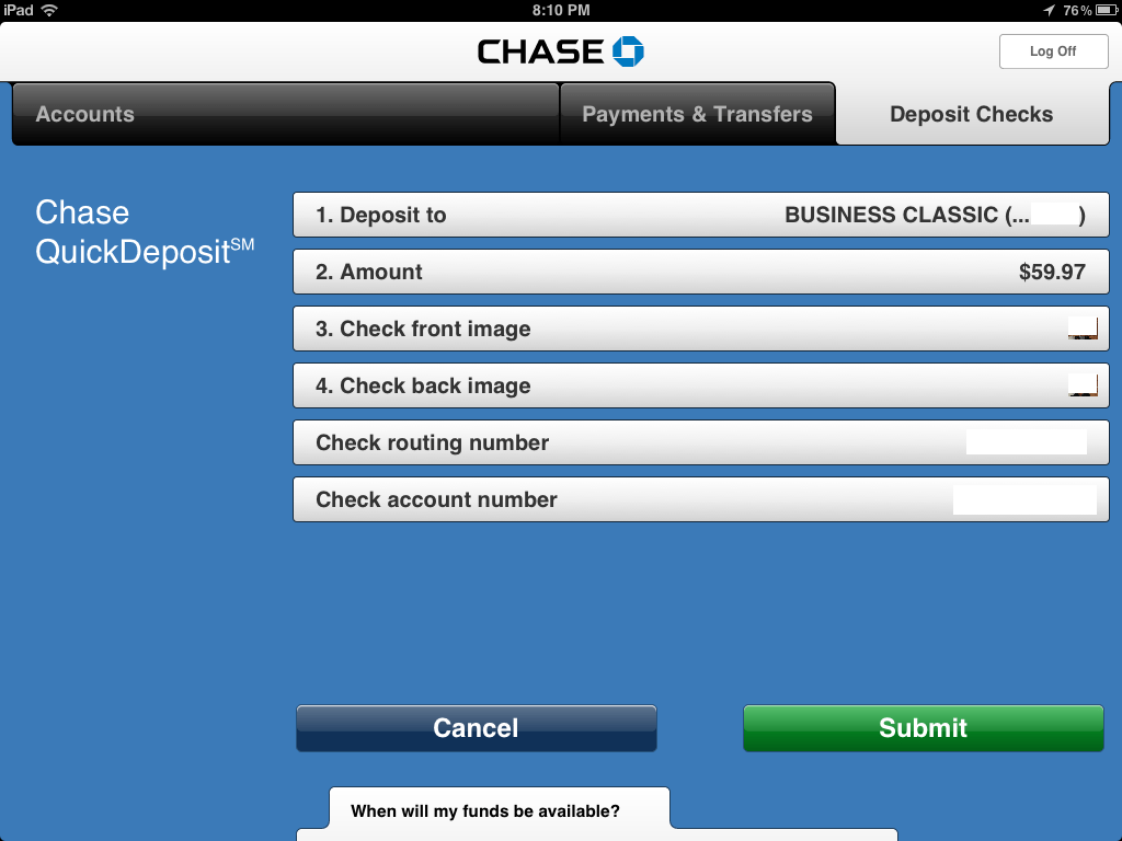 Chase Routing Number Lookup