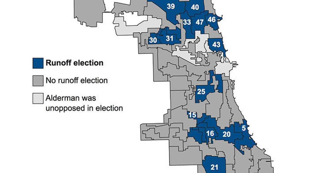 hight resolution of city council runoffs breaking down 15 races