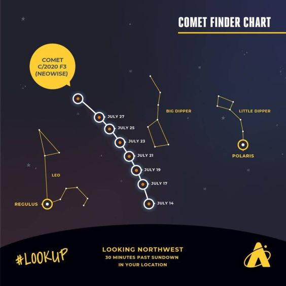 Newly discovered Comet Neowise visible in evening sky: 'A long ...