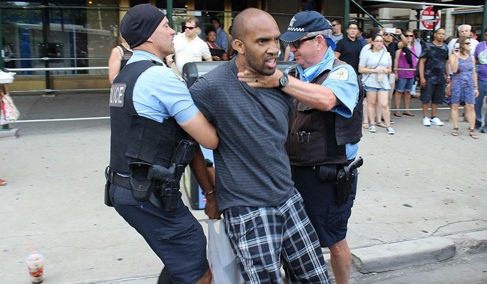 Black Man Arrested By Chicago Police for Standing on Street