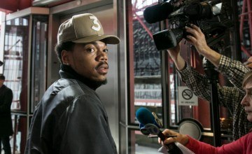 Chance The Rapper addresses the media while walking out of the Thompson Center after meeting with Gov. Bruce Rauner on Friday, March 3, 2017.  | Ashlee Rezin/Sun-Times