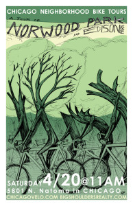 Tour of Norwood Park and Edison Park 2013 Poster by Ross Felton