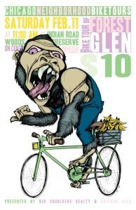 Tour of Forest Glen 2012 poster by Ross Felten