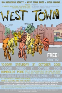 Tour of West Town 2009 Poster by Ross Felton