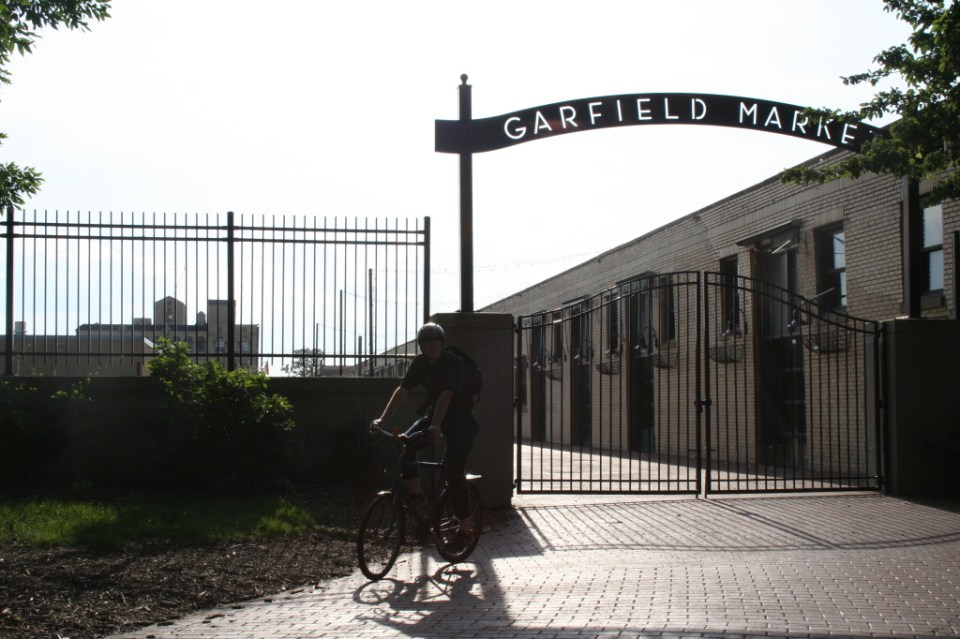 Garfield Market uses the stables designed by William Le Baron Jenney