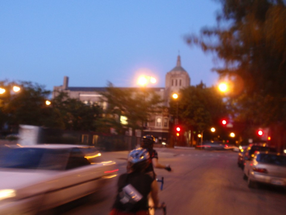 Late day research ride of Lincoln Square