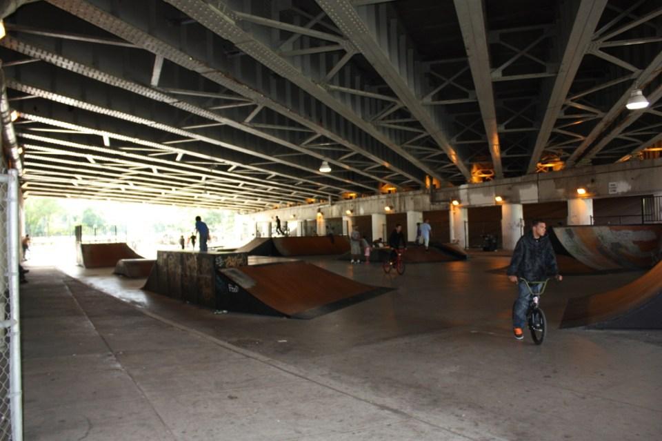 Logan Avenue Viaduct under Kennedy skate and BMX park