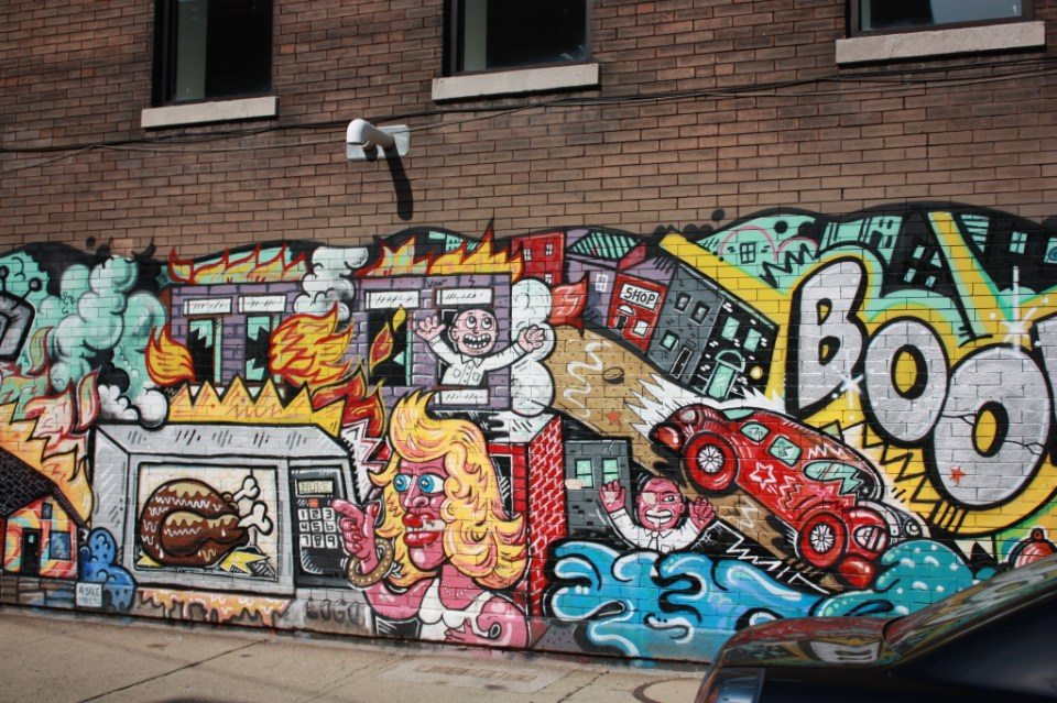 Mural at Morgan and 32nd Place
