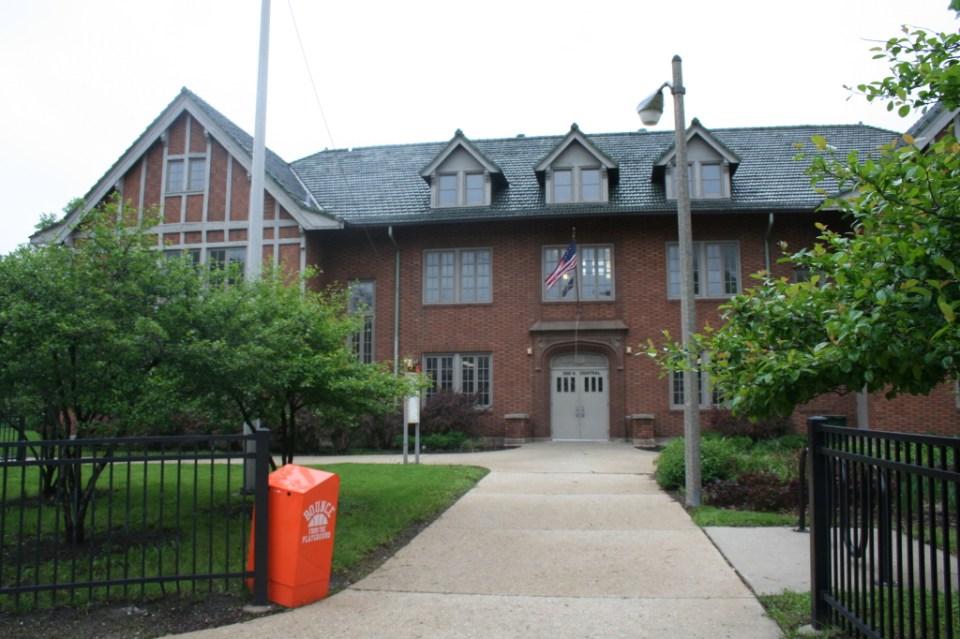 Recreation Building (Locker and Shower Building) - Central Ave, south of Van Buren