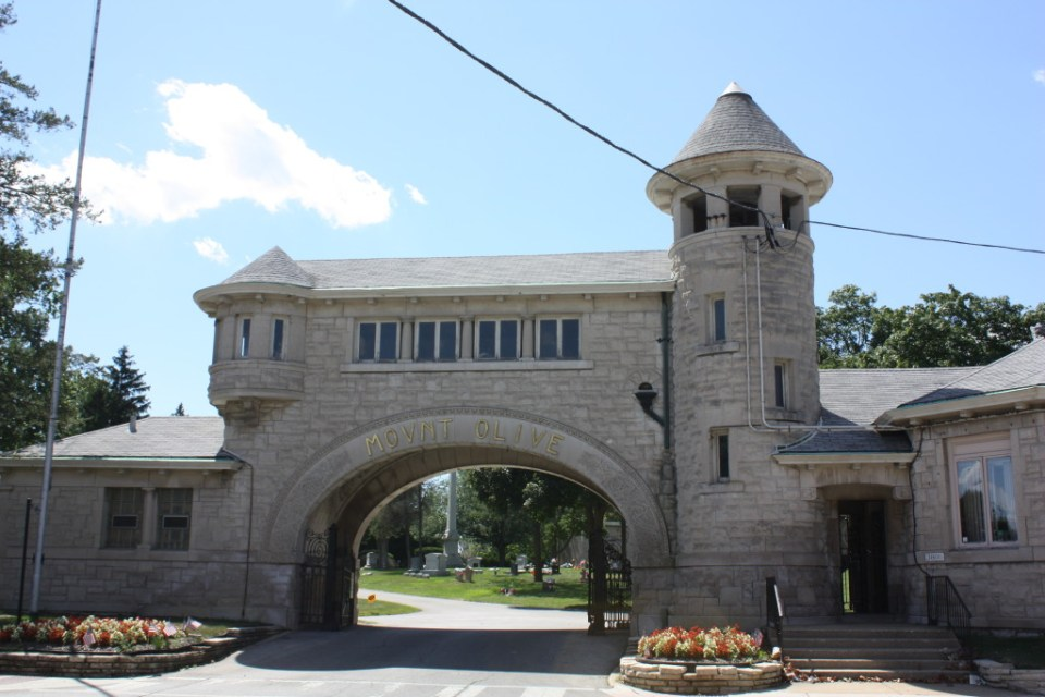 Mount Olive Cemetery Gatehouse at 3800 N Narragansett