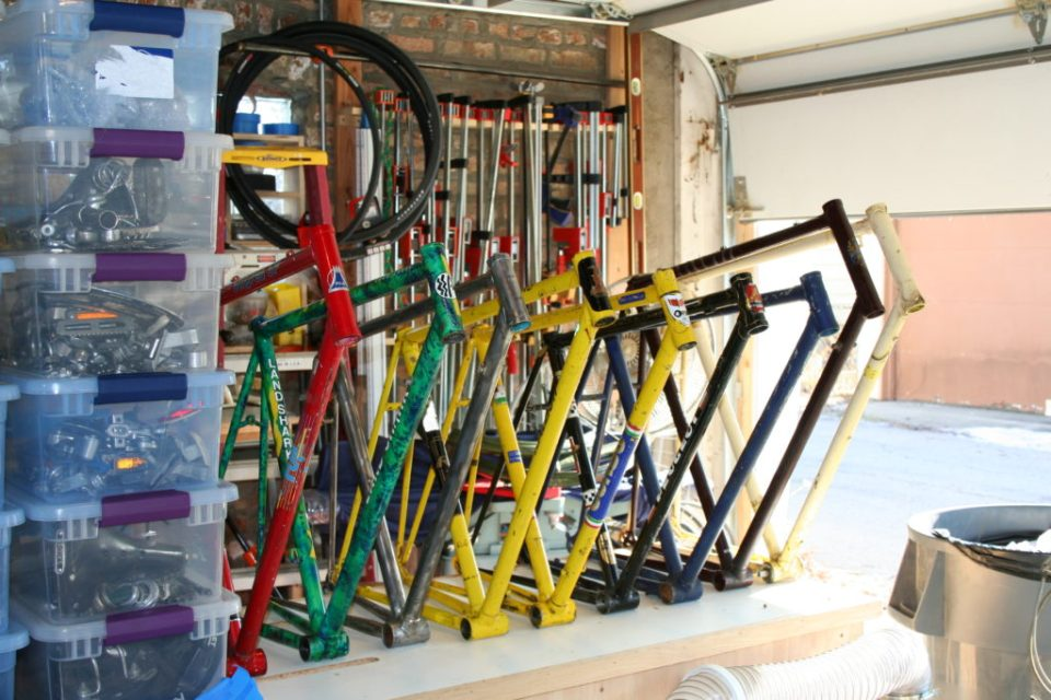 First batch of frames for the loaner bike library