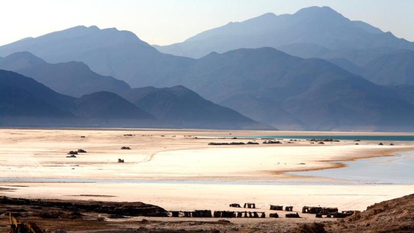 Lac Assal, Djibouti. Image shot 2007. Exact date unknown.