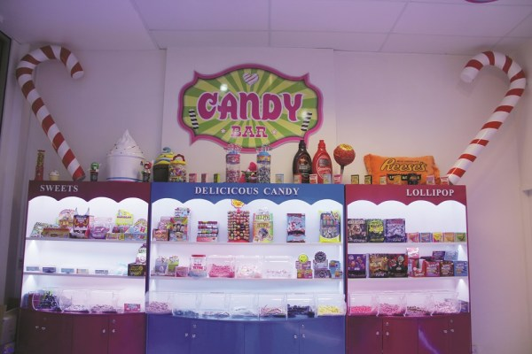 The candy bar adds an additional service for customers, especially children