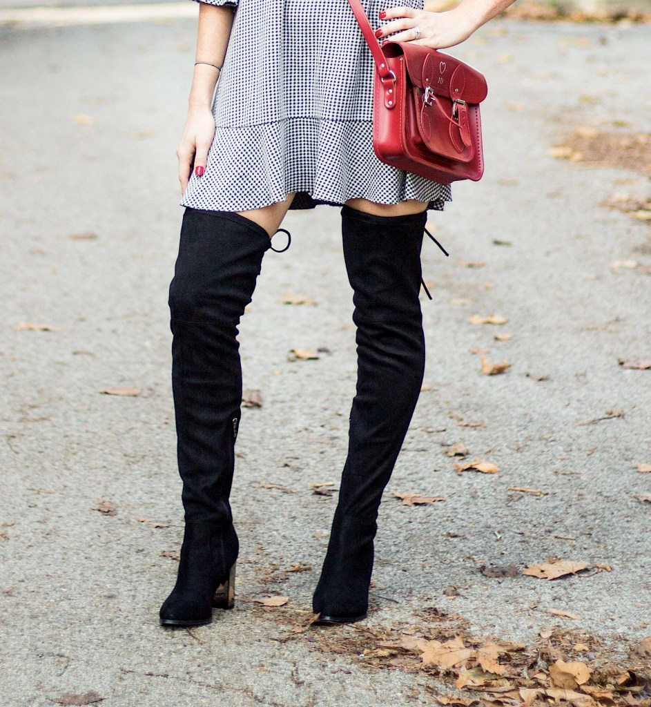 gingham-dress-over-the-knee-boots-with-a-pop-of-red-2