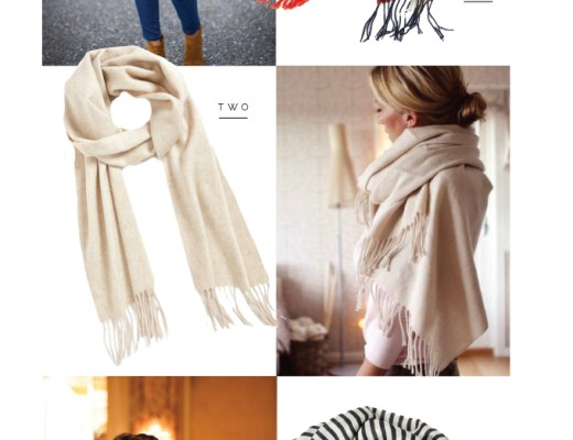 Three ways to wear a scarf for fall.