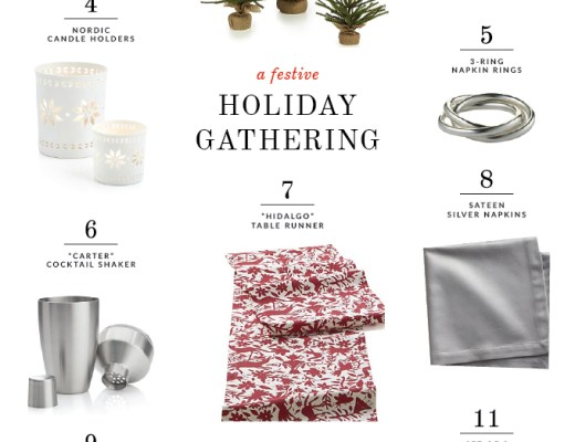 Festive Holiday Gathering - my favorite picks from Crate & Barrel | www.chicandsugar.com