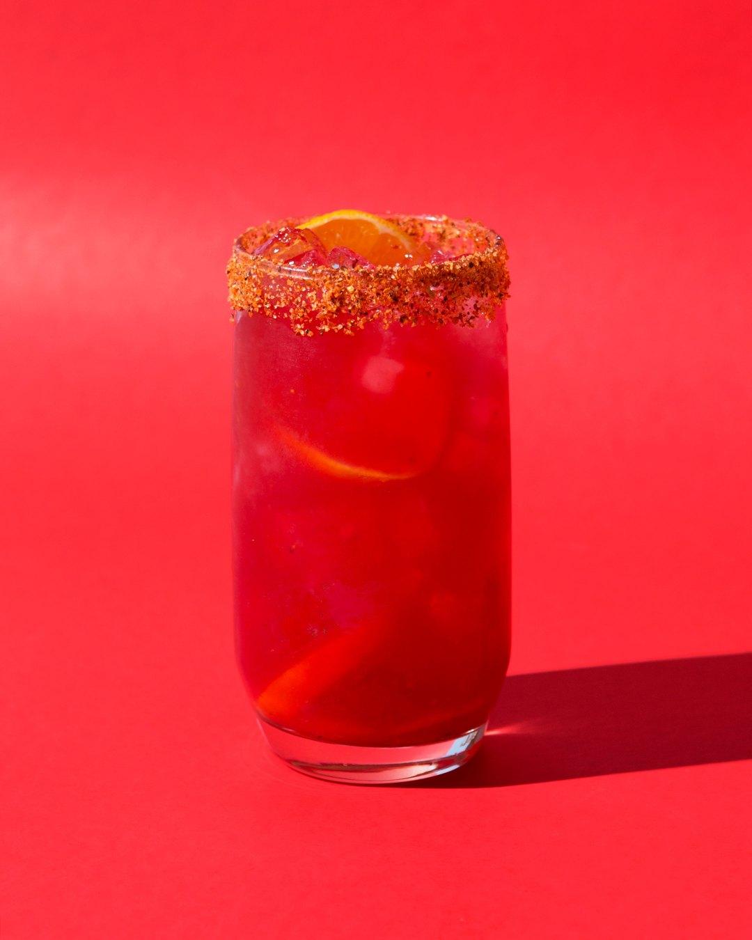 Clementine Margarita with Hibiscus