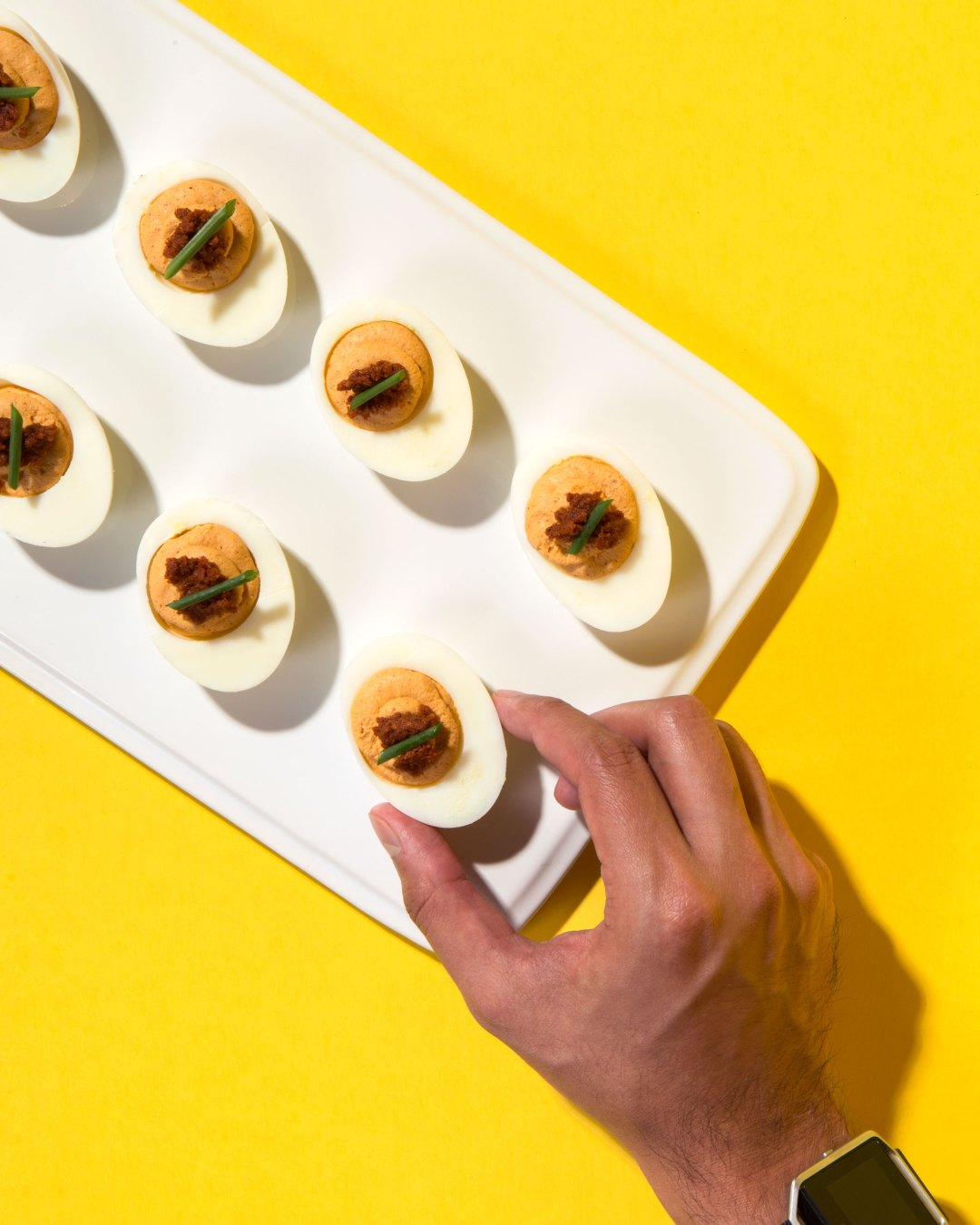 Mole Coloradito Deviled Eggs