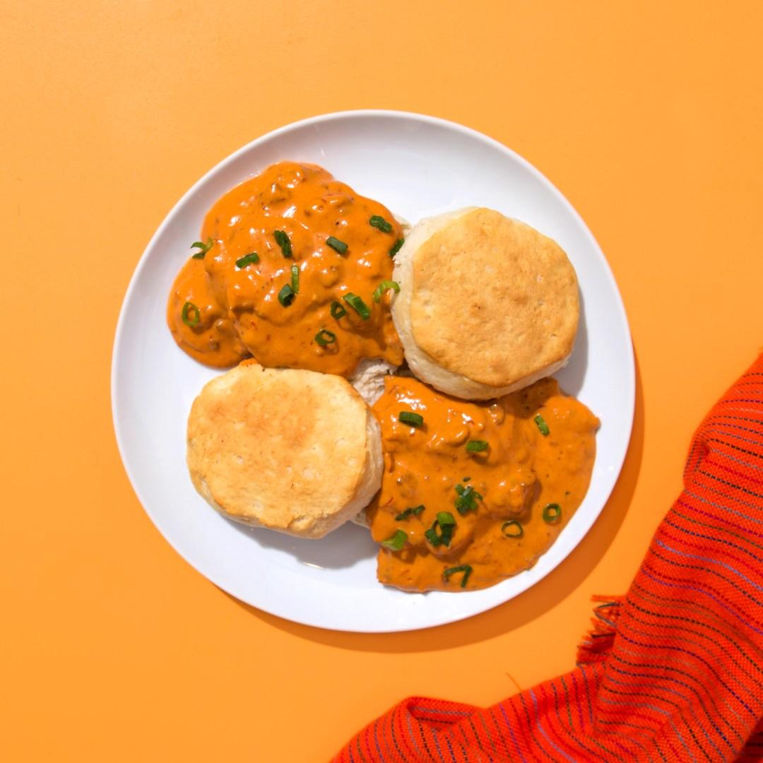 Guajillo Biscuits & Gravy