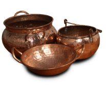 tipos de ollas cobre